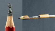 Artista convierte la frágil mina de lápiz en increíbles obras de arte en miniatura