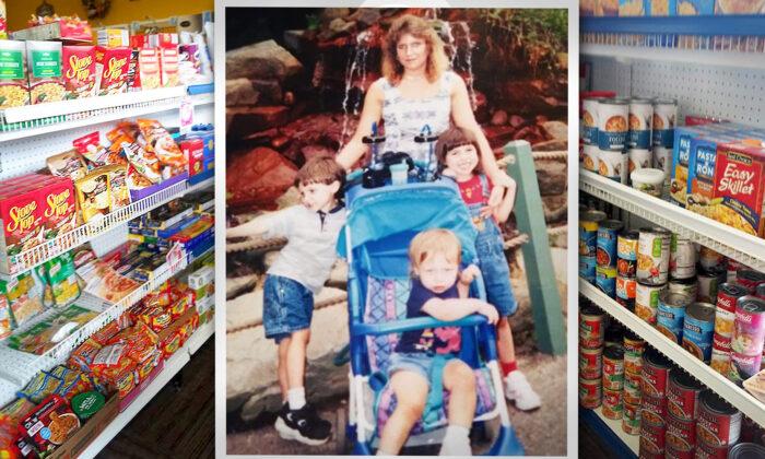 Madre de 3 hijos que pasó hambre durante su divorcio ahora dirige su tienda de alimentos gratuita