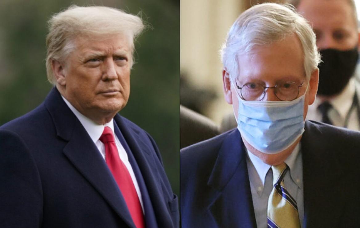 Trump: McConnell y los republicanos deben dejar los diálogos bipartidistas hasta que tengan la mayoría