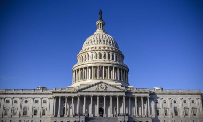 El edificio del Capitolio de EE. UU. en Washington el 29 de diciembre de 2020. (Eric Baradat/AFP vía Getty Images)