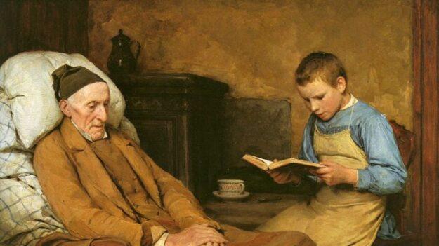 """Servicio, gratitud y devoción: un mensaje para la jóvenes en la obra """"Leyendo oraciones al abuelo'"""