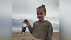 Niña del Reino Unido lanza al mar un mensaje en una botella y aparece en Noruega