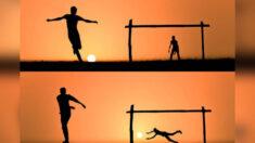 Fotógrafo utiliza puesta del sol para crear un arte de siluetas surrealistas, ¡es mágico!