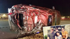 Mamá que sobrevivió a increíble accidente con su familia dice que fue gracias a invocar a Dios