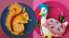 Extraordinario arte de comida para niños de Creative Mom, totalmente comestible y saludable