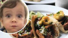 Bebé mexicano prueba por primera vez los tradicionales tacos al pastor: ¡Su cara lo dice todo!