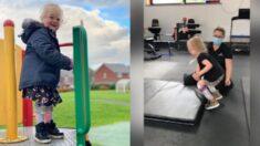 Niña de 4 años con parálisis cerebral a quien le dijeron que nunca podría caminar, ¡aprende a saltar!