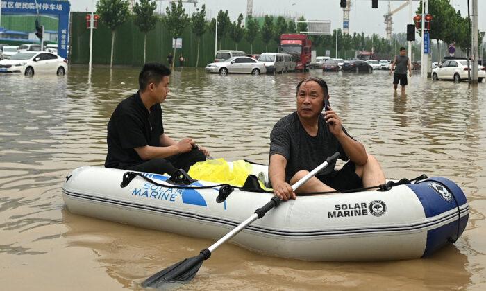 Estilo de vida altamente digitalizado agrava los problemas de las inundaciones en China
