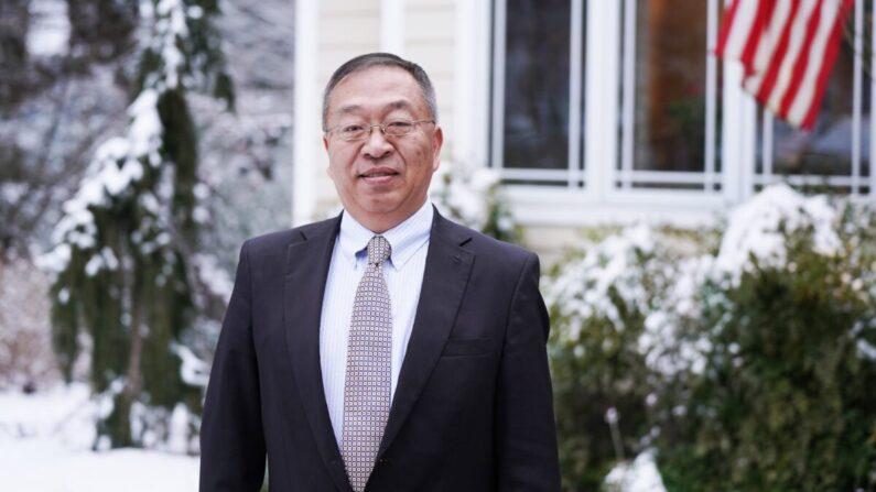 Miles Yu, miembro sénior del Instituto Hudson, asesor sénior de políticas en China del exsecretario de Estado de EE. UU. Mike Pompeo, en Annapolis, Maryland, el 11 de febrero de 2021. (Tal Atzmon/The Epoch Times)