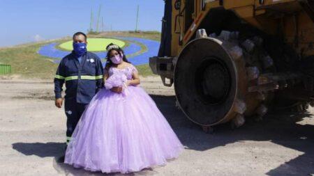 """Quinceañera mexicana se toma fotos en basurero donde trabaja su papá: """"Es su mayor orgullo"""""""