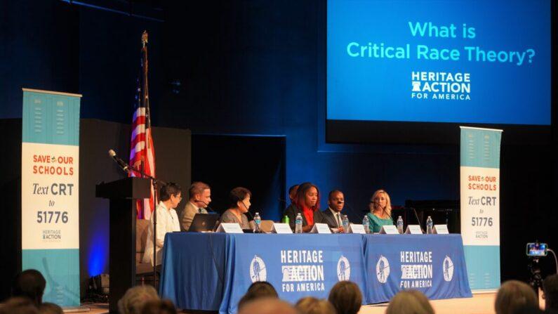 El grupo Heritage Action for America organizó un panel de discusión sobre la Teoría Crítica de la Raza (CRT) en Georgetown, Delaware, el 29 de julio de 2021. (William Huang/The Epoch Times)