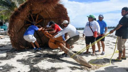 Huracán Grace avanza por Yucatán con fuertes vientos y lluvias