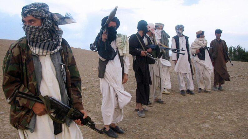 La milicia talibán de Afganistán. (STR/AFP/Getty Images)