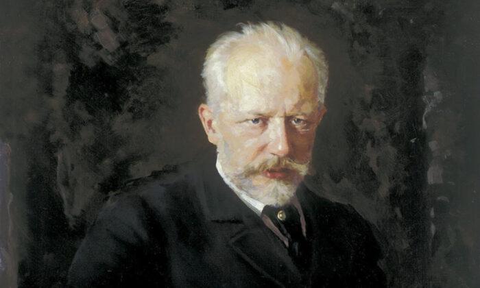 Detalle de un retrato de Piotr Ilich Chaikovski (1893) realizado por Nikolai Dmitriyevich Kuznetsov. Galería Tretyakov. (PD-US)