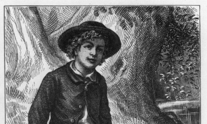 """Pocos niños tuvieron tantas aventuras como Tom Sawyer de Mark Twain. Detalle del frontispicio de la primera edición, 1876, de """"Las aventuras de Tom Sawyer"""". División de Impresiones y Fotografías de la Biblioteca del Congreso de EE. UU. (Dominio público)"""