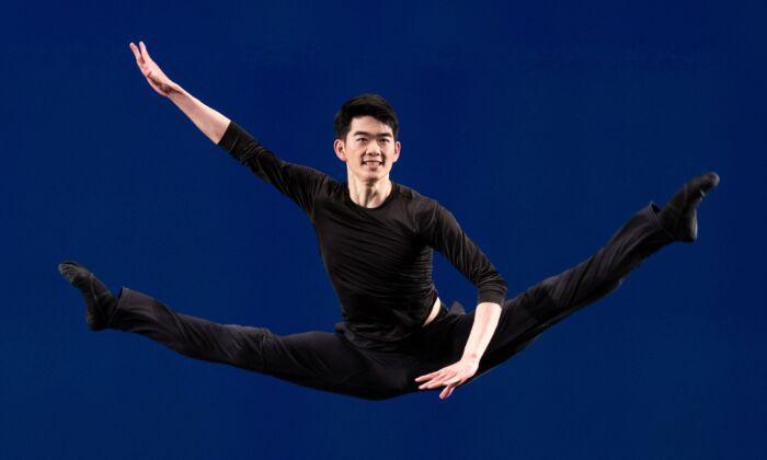 Victor Li compitiendo en la parte técnica de la Competencia Internacional de Danza Clásica China de NTD. (Edward Dye)