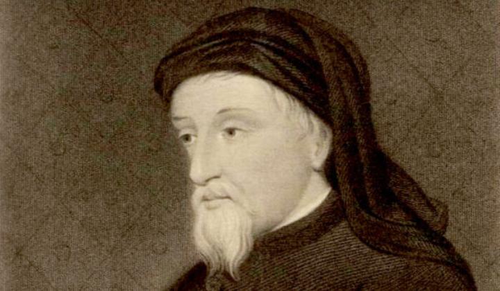 Retrato del poeta y escritor inglés Geoffrey Chaucer, de la Colección de Retratos Galeses de la Biblioteca Nacional de Gales. (Dominio público)