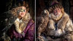 Fotógrafo viaja a Mongolia para retratar cazadores de águilas de antigua tribu, ¡los últimos de su tipo!
