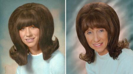 """Abuela recrea su icónico peinado de las fotos de su graduación: """"Un momento maravilloso"""""""