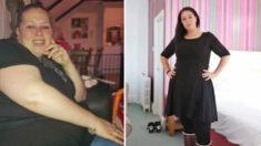 Madre obesa que intentaba entrar en talla XXL pierde 144 libras en 15 meses, ¡está irreconocible!