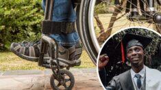 Joven que quedó paralítico hace 12 años sorprende caminando en su graduación: ¡Es una inspiración!