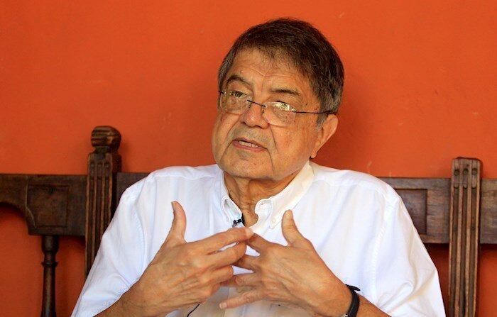 Fotografía del 31 de enero de 2020 del escritor y exvicepresidente de Nicaragua, Sergio Ramírez. EFE/ RICARDO MALDONADO ROZO