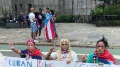 Cubanas mantienen huelga de hambre frente a la ONU en Nueva York a pesar del paso de Ida