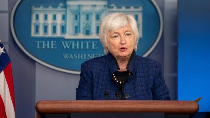 La secretaria del Tesoro de Estados Unidos Janet Yellen. EFE/Tasos Katopodis/Pool