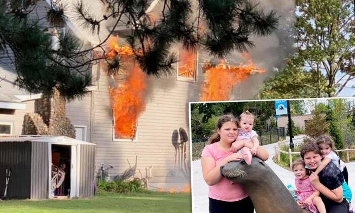 """Niño de 13 años salva a sus 4 hermanas de incendio en su casa, perdieron prácticamente """"todo"""""""