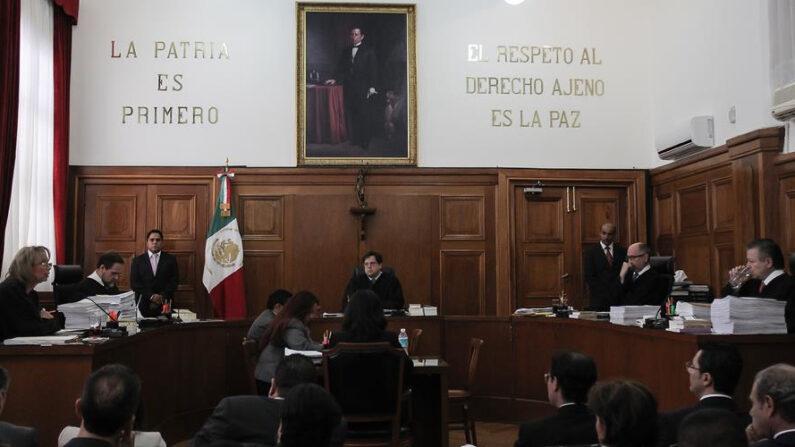 Magistrados de la Suprema Corte de Justicia de la Nación (SCJN) en Ciudad de México (México). EFE/Alex Cruz/Archivo
