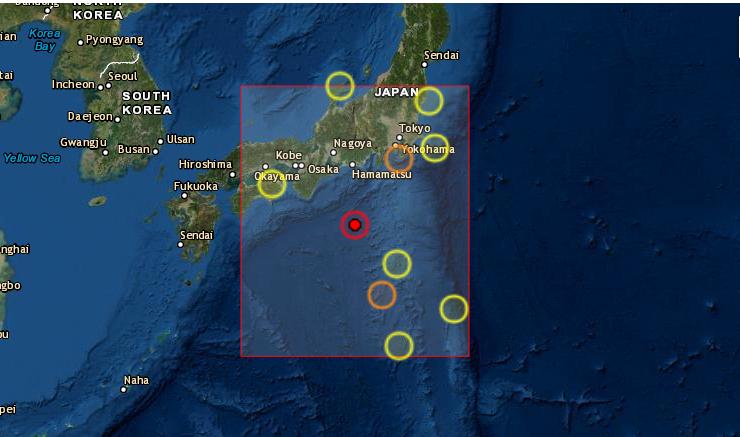 Un sismo de magnitud 6.2 en la escala de Richter se produjo este lunes 13 de septiembre en aguas del Pacífico frente a Japón, dejándose sentir en buena parte del archipiélago, sin desencadenar alerta de tsunami ni provocar percances ni daños. (Captura de pantalla/USGS)