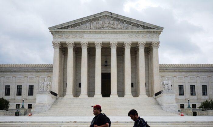 La Corte Suprema de EE. UU. en Washington D.C. el 1 de septiembre de 2021. (Mandel Ngan/AFP vía Getty Images)