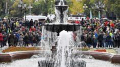 Varios centenares protestan en el centro de Moscú contra resultados de elecciones