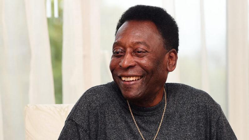 Pelé en una entrevista en el Hotel Savoy antes de su asistencia a los Premios GQ Hombres del Año el 5 de septiembre de 2017 en Londres, Inglaterra. (Eamonn M. McCormack/Getty Images)