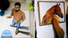 Dibujos 3D de talentoso artista se ven tan reales que lo harán dudar