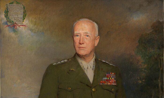 General George S. Patton, un retrato de Boleslaw Jan Czedekowski. (Galería Nacional de Retratos, Institución Smithsoniana)