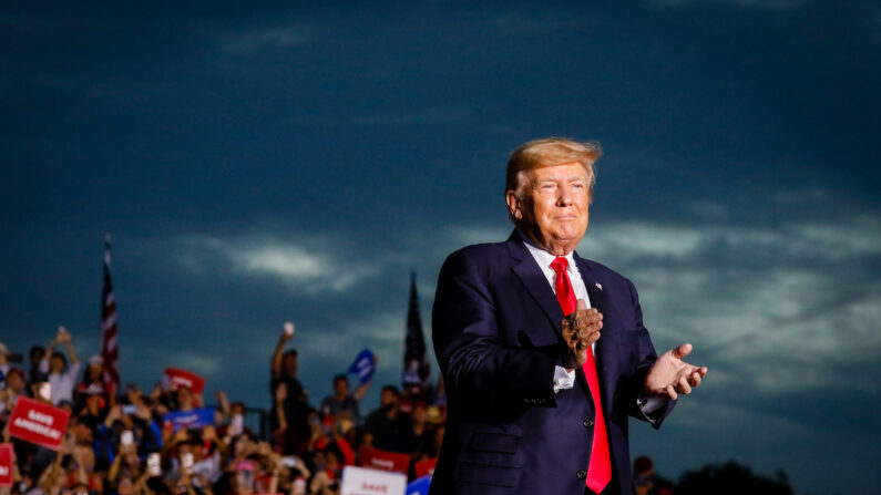 El expresidente Donald Trump en un mitin en Sarasota, Florida, el 3 de julio de 2021. (Eva Marie Uzcategui/Getty Images)