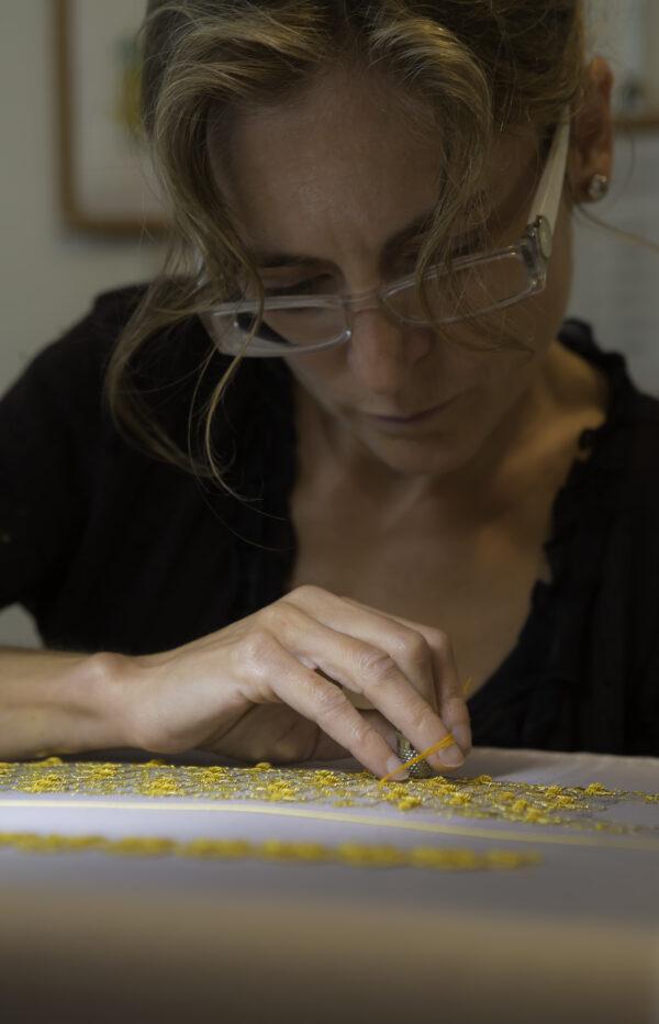 bordados en hilos de oro Sylvie Deschamps