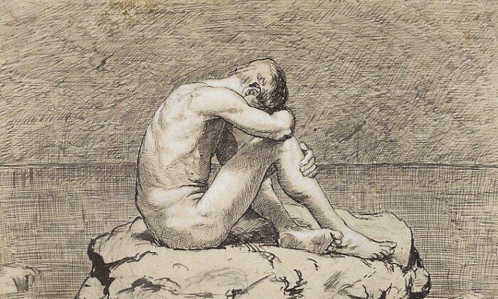 """En los tiempos modernos, la soledad ha llegado a considerarse un estado de ánimo. """"La soledad"""" de Hans Thoma. Museo Nacional de Varsovia. (PD-US)"""