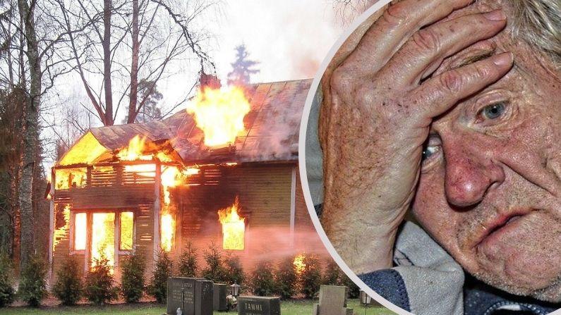 """Policía rescata a abuelito de 79 años atrapado en su casa en llamas: """"Habría sido catastrófico"""""""