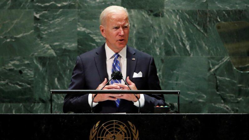 El presidente de EE.UU., Joe Biden, habla ante la Asamblea General de la ONU, este 21 de septiembre de 2021, en Nueva York. (EFE/Eduardo Muñoz/Pool)