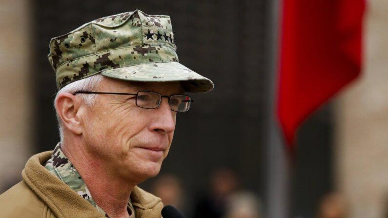 El jefe del Comando Sur de los Estados Unidos, el almirante Craig S. Faller, en una fotografía de archivo. (EFE/Alberto Peña)