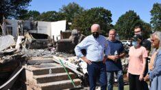 Biden recorre los daños que dejó el huracán Ida en Nueva York y Nueva Jersey