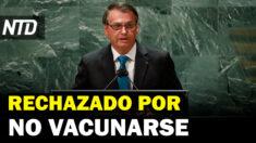 NTD Noticias: Bolsonaro desata polémica en NYC por no vacunarse; Biden busca aumentar la vacunación mundial