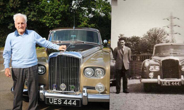Chófer jubilado recibe en sus 100 años el lujoso Bentley que condujo hace 60 años