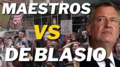 Maestras hispanas demandan a De Blasio por mandato de vacunas en NYC