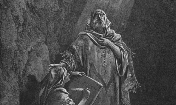 """La luz divina de la verdad: """"Baruc escribiendo las profecías de Jeremías"""""""