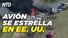 NTD Noticias: Un avión se estrella en Texas; Inmigrantes ilegales haitianos planean nueva caravana a EE. UU.