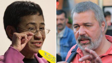 Premio Nobel de la paz para periodistas filipina Maria Ressa y ruso Dmitry Muratov