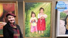 """Artista polaca representa a los niños perseguidos en China: """"El malvado PCCh se derrumbará"""""""